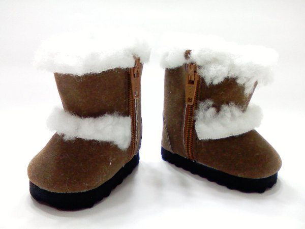 Brown Faux Shearling Boots