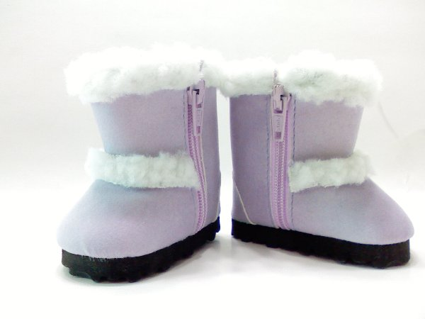 Lavender Faux Shearling Boots