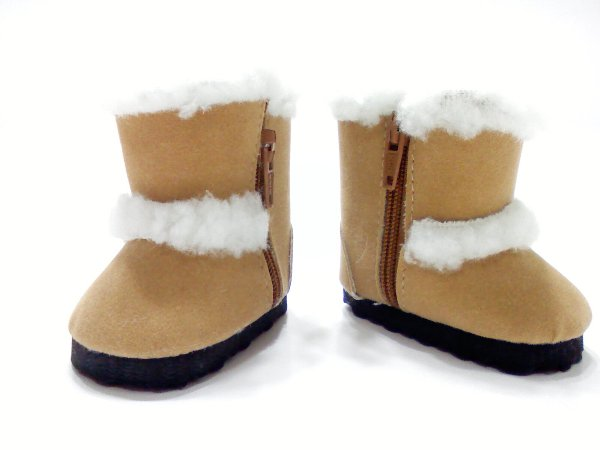 Sand Faux Shearling Boots
