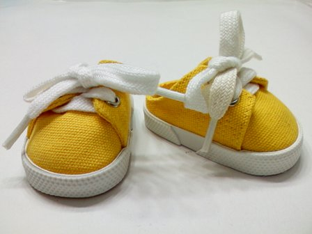 Yellow Backless Canvas Mules