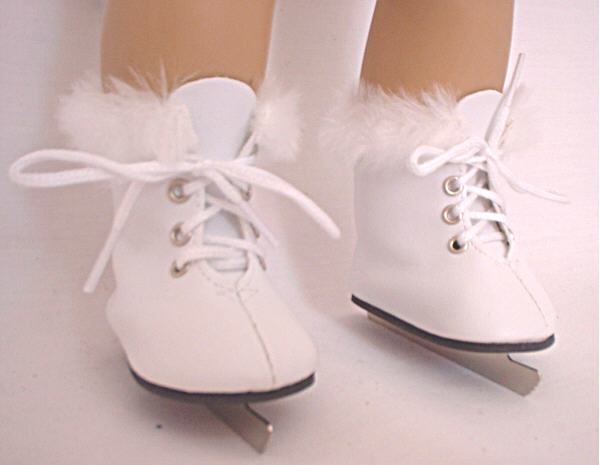 White Furry Ice Skates