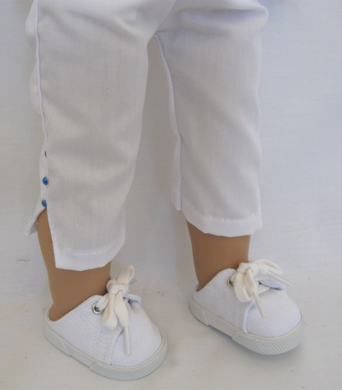 White Split Leg Pants