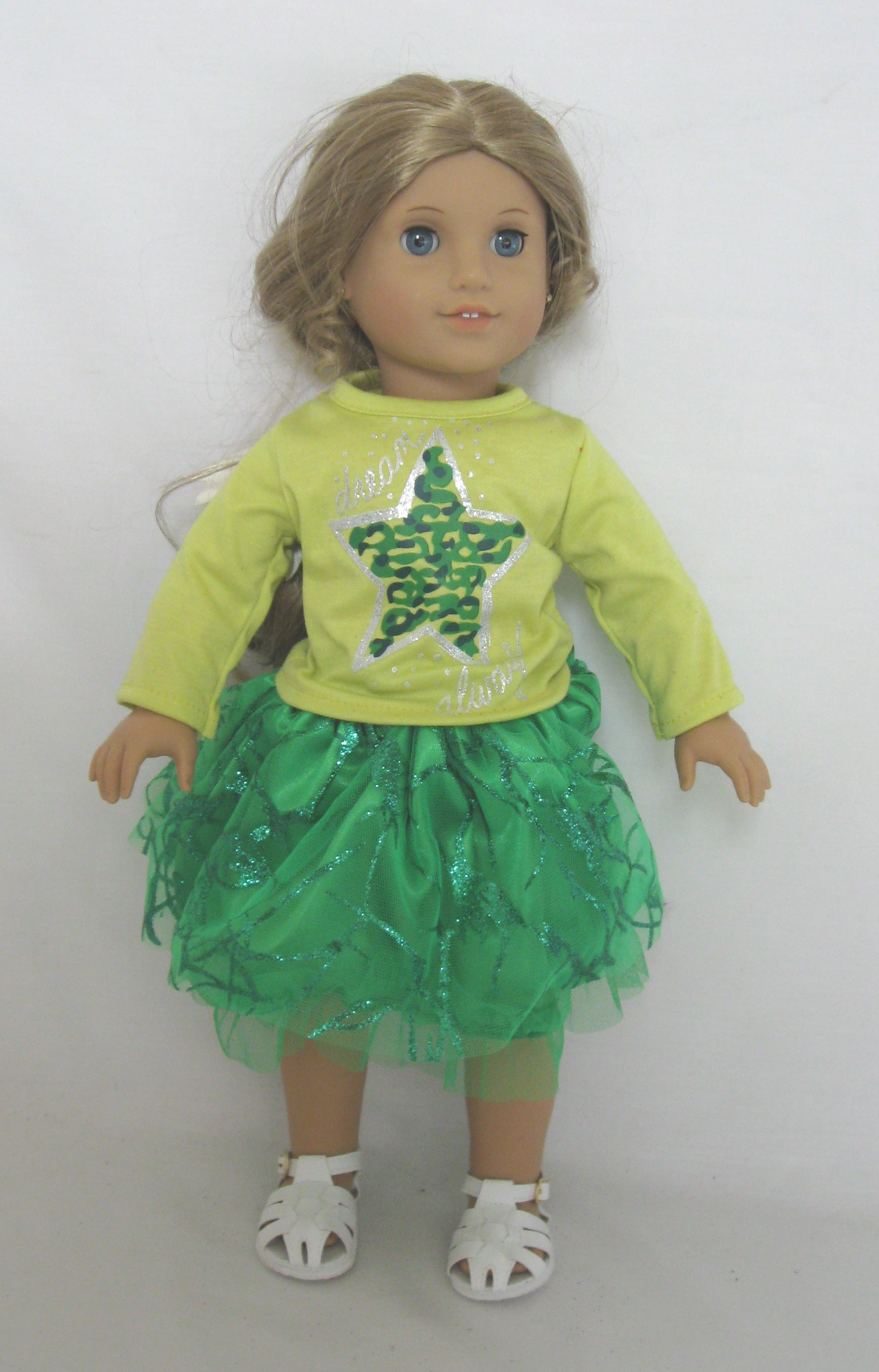 Green Star Top and Skirt Set