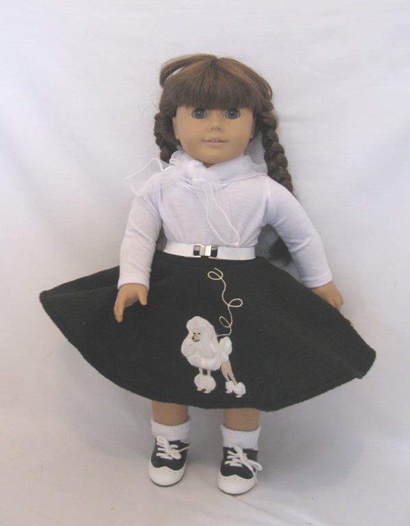 Black Poodle Skirt Set
