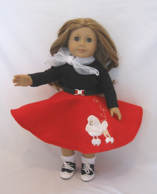 Red Poodle Skirt Set
