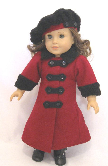 Red Wool Victorian Coat