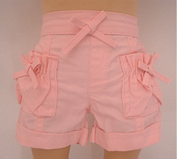 Pink Rolled Up Cuff Shorts