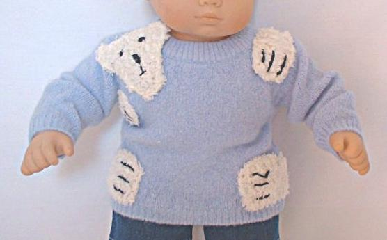 Blue American Girl Bear Hugs Sweater