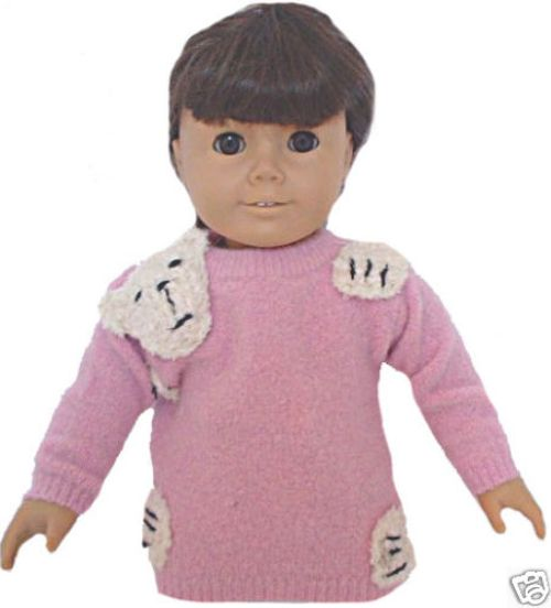 Pink American Girl Bear Hug Sweater