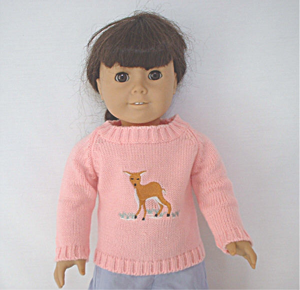 American Girl Baby Deer Sweater