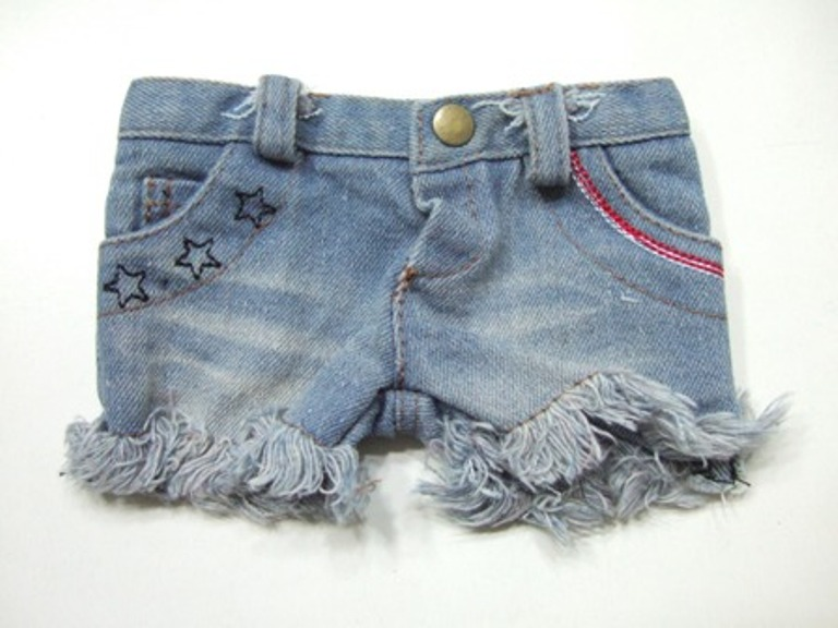 Frayed Cuff Shorts