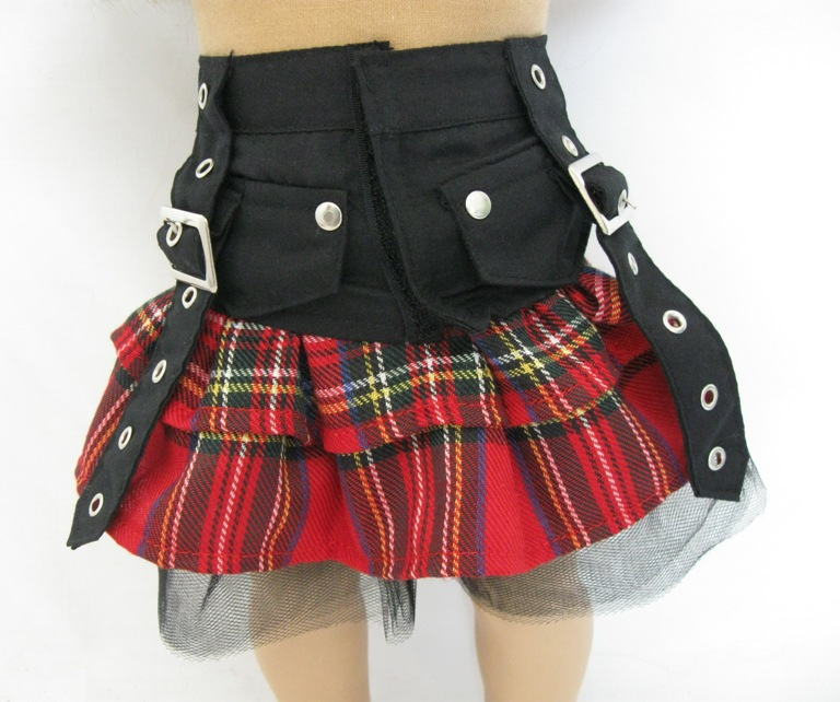 Punk Rocker Plaid Skirt
