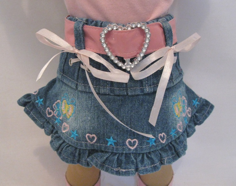 Bling Belt Denim Skirt