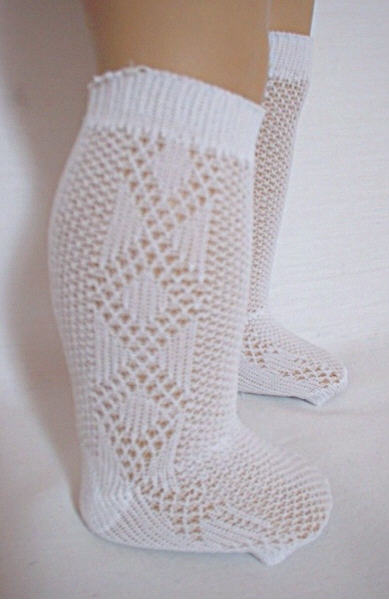 Diamond Pattern Knee High Socks
