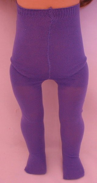 Purple Plain Tights