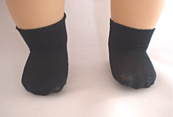 Short Black Nylon Socks