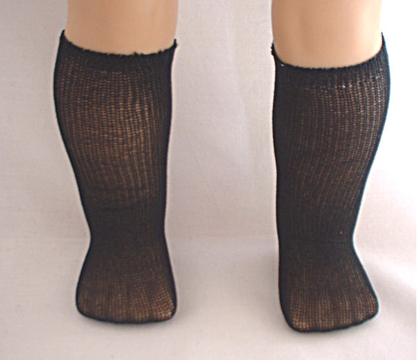 Long Black Nylon Socks