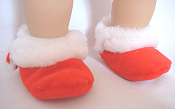 Red Velvet Slippers