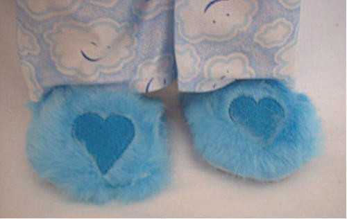 Turquoise Fuzzy Slippers