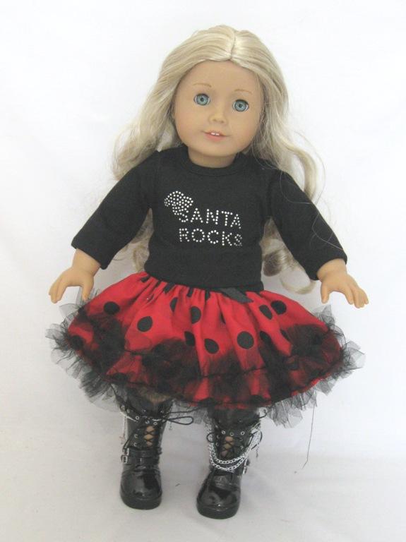 5daa2ae9597 Santa Rocks Outfit  snta  -  17.99   Doll Clothes Store