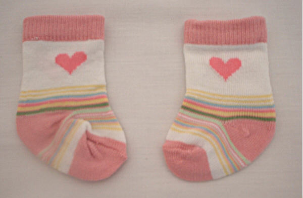 Heart and Stripe socks