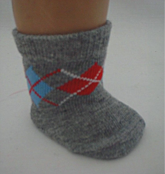 Gray argyle socks