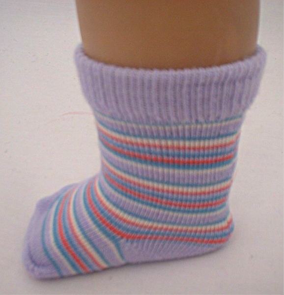 Lavender Stripe Socks