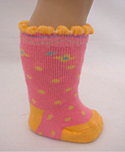 Pink Poka Dot Socks