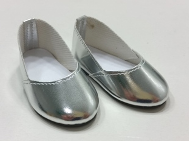Silver Slip Om Shoes