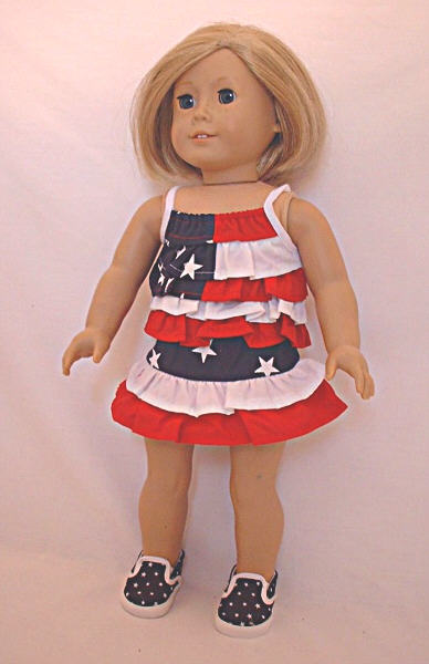 Red White and Blue Skirt Set