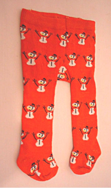 Red Snowman Tights