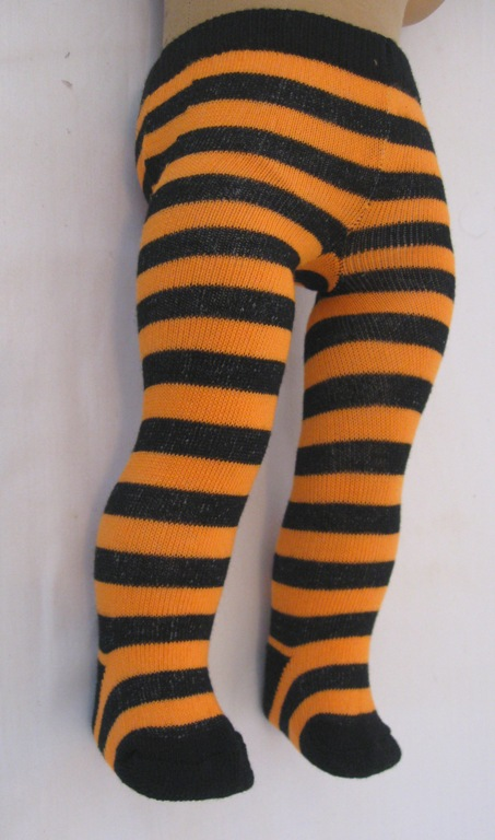 Black and Orange Stripe Tight