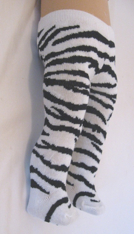 Zebra Striped Tights