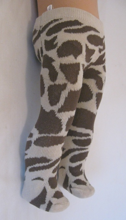 Giraffe Print Tights