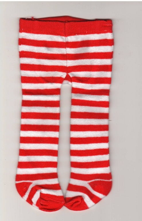 Red and White Striped Tight