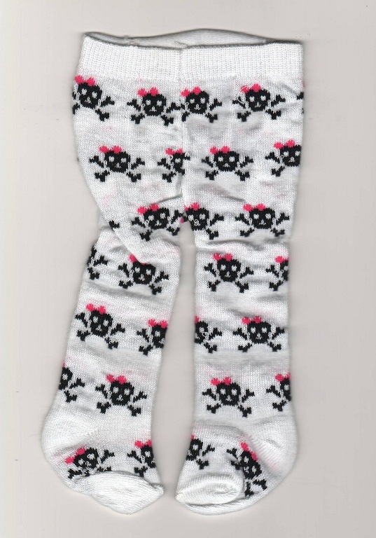 Skull and Crossbones Tights