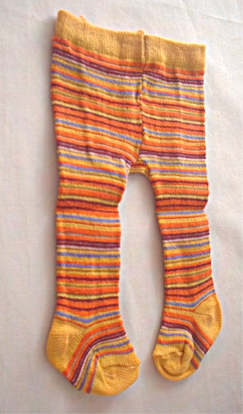 Yellow and Orange Stripe Tights
