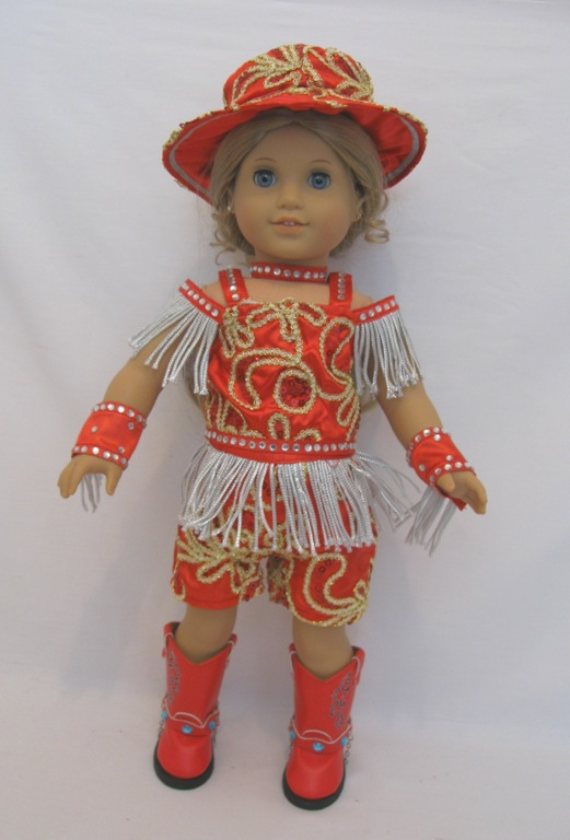 b03c52f3e32 Red Dance Costume  tp-3  -  24.99   Doll Clothes Store