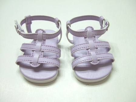 Lavender Strappy Sandals