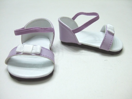 Lavender Bow Sandals