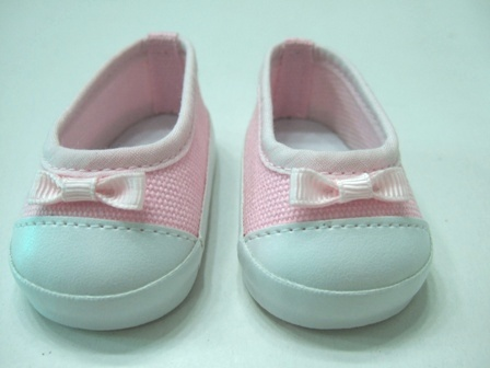 Pink Canvas Slip-On Shoes