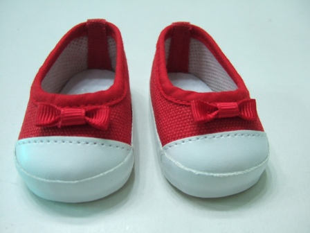 Red Canvas Slip-On Shoes