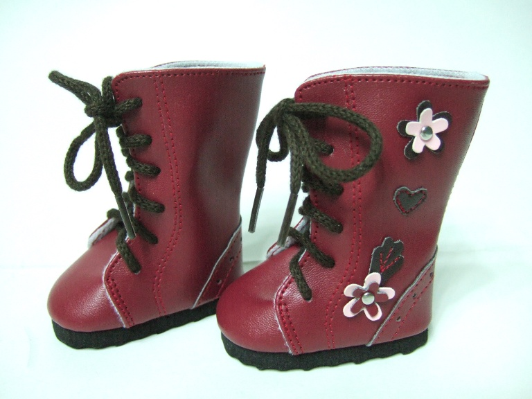 Flowered Lace Up Boot
