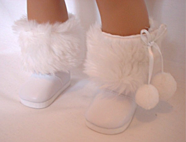 White Fur Trimmed Boots