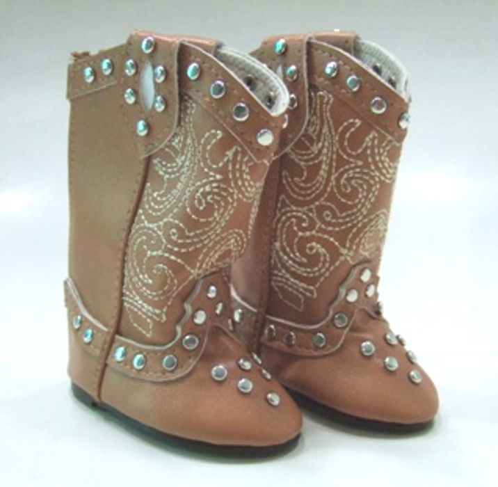 Brown Studded Cowboy Boots