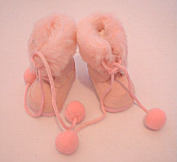 Pink Fur Trimmed Boots