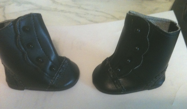 All Black Victorian Boots