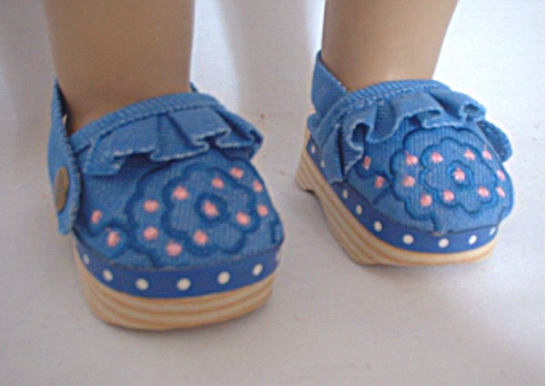 Blue Canvas Clogs
