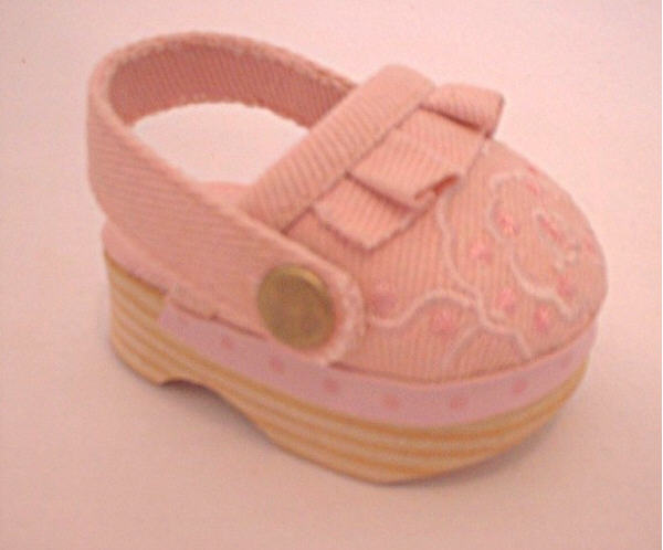 Pink Canvas Clogs
