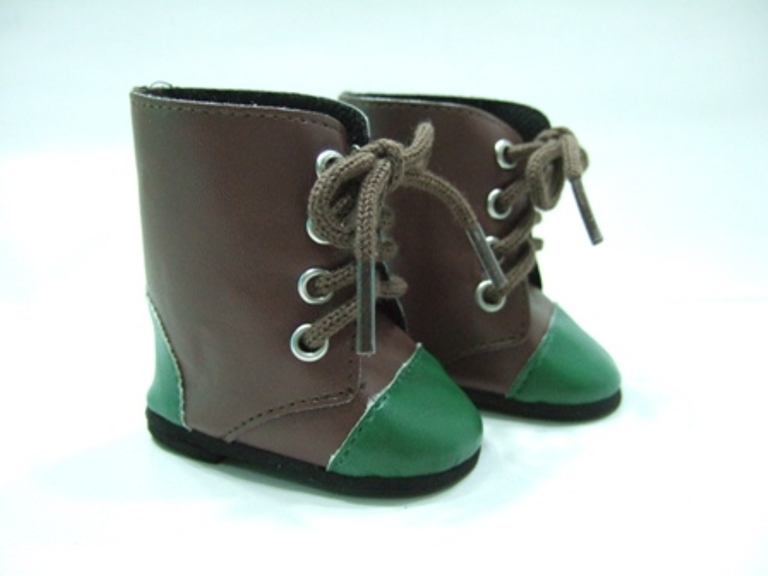 Two Tone Green Toed Boot